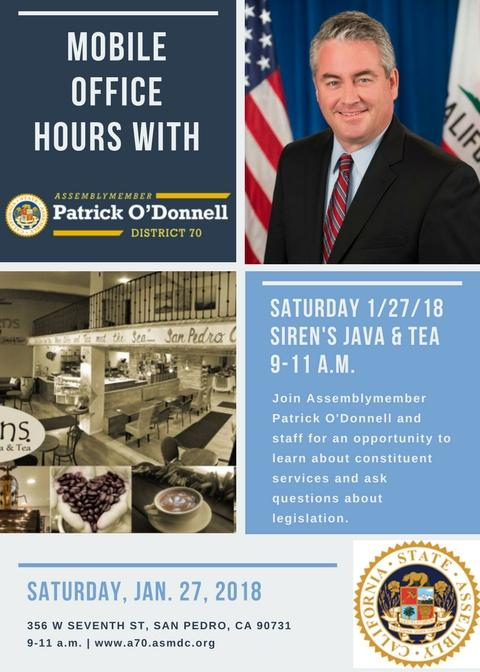 Mobile Office Hours with Assemblymember Patrick O'Donnell