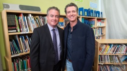 Asm. O'Donnell with Gov. Newsom