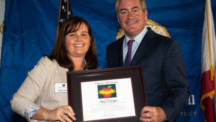 Asm. O'Donnell with awardee